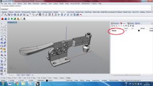 3D модель в Rhinoceros